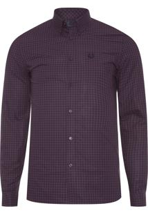Camisa Masculina Three Colour Gingham - Roxo