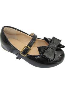 Sapato Boneca Com Laã§O- Pretoprints Kids