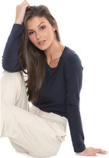 Camiseta Liz Lisa Azul-Marinho - Kanui