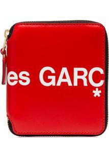 Comme Des Garçons Wallet Carteira Com Estampa De Logo E Zíper - Vermelho