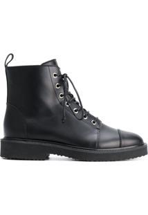 Giuseppe Zanotti Design Ankle Boot 'Chris' De Couro - Preto