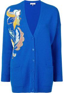 Emilio Pucci Cardigan De Cashmere - Azul
