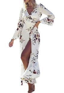 823fc769b R$ 144,90. Style.Me Vestido Longo Floral Saída De Praia