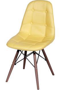Cadeira Eames Botone Amarela Base Escura - 44876 - Sun House