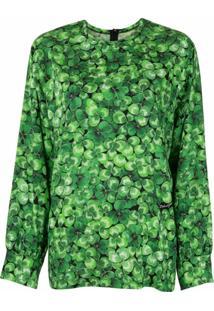 Dolce & Gabbana Blusa Com Trevo - Verde