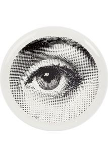 Fornasetti Bandeja Branca Modelo 'Occhio'. - Branco