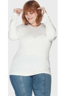 Blusa Flamê Plus Size Branco Branco