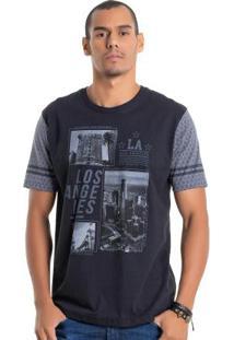 Camiseta Los Angeles Preto Bgo