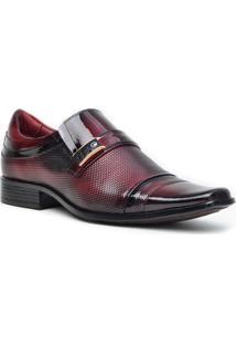 Sapato Social Gofer Promais 0731A Co - Masculino-Vinho