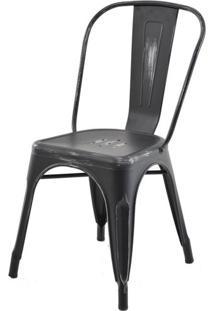 Cadeira Iron Tolix Sem Braco Vintage Preto - 28333 - Sun House