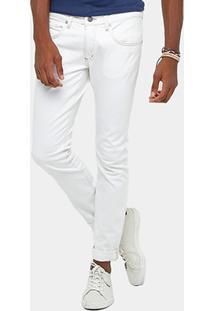 Calça Jeans Skinny Calvin Klein Off White Masculina - Masculino