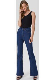 Calça Jeans Flare Cintura Alta Básica