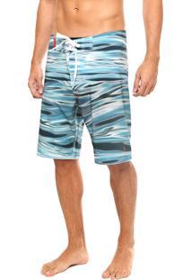 Bermuda Água Coca-Cola Jeans Manchas Azul