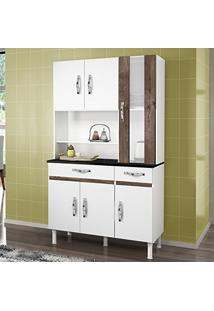 Armário De Cozinha 6 Portas 2 Gavetas Sampaio Chf Branco/ Chocolate