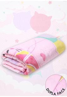 Cobertor Solteiro Lepper Fantasy Rosa Claro 1,50 X 2,20