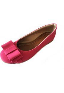 Sapatilha Likka Calçados Bico Redondo Rosa Pink