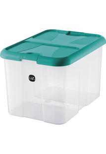 Caixa Organizadora Plus Verde-Água 40 L