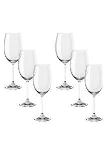 Conjunto Brinox De Taças Para Vinho Branco Fizzy Haus Concept Cristal Incolor