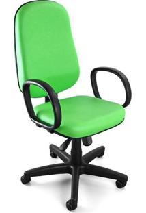 Cadeira Giratória Presidente C/ Relax E C/ Braços Corano Verde