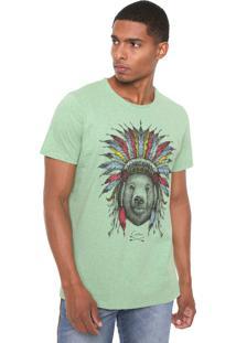 Camiseta Colcci Urso Verde