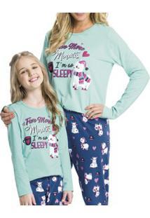 Pijama Adulto Longo Lhama Malwee Liberta (1000052508) 100% Algodão