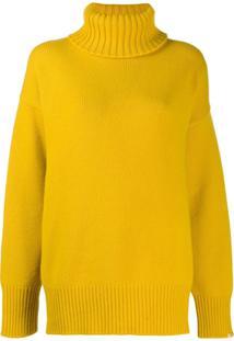 Extreme Cashmere Suéter Oversized Gola Alta Nº20 - Amarelo
