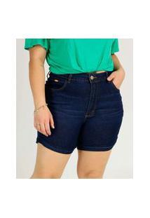 Short Plus Size Feminino Barra Dobrada Uber Jeans