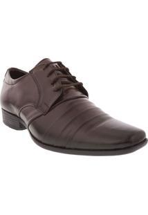Sapato Social Flat Com Textura Marrom