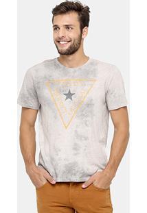 Camiseta Triton Tinturada Marmorizada Official - Masculino-Cinza