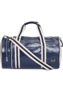 Bolsa Masculina Classic Barrel - Azul E Off White