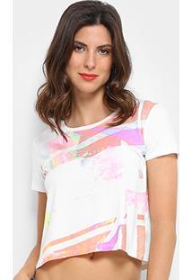Camiseta Calvin Klein Estampada Inspiration Feminina - Feminino-Off White