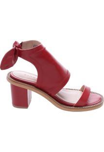Sandália Giulia Block Heel Red   Schutz