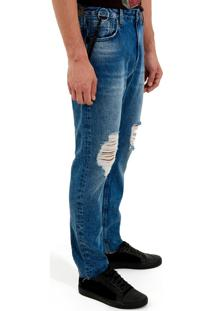 Calça John John Rock Capri Gerona Jeans Azul Masculina (Jeans Medio, 42)