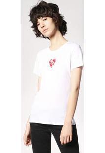 Camiseta Diesel T-Sily-C Feminina - Feminino-Branco