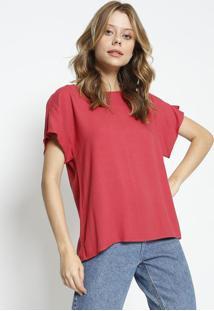 Blusa Com Recorte Vazado - Rosa Escuro - Colccicolcci