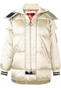 Off-White Hooded Padded Jacket - Neutro