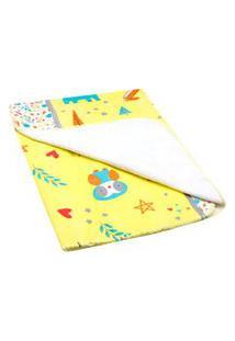Cobertor Bebê Antialérgico Amarelo Safari - Bambi - Tamanho Único - Amarelo