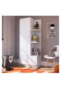 Guarda Roupa Infantil Art In Móveis Gr070 Amore 1 Porta 2 Gavetas Branco