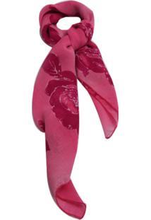 Lenço Smm Acessórios Com Flor Rosa