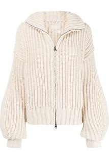 Zadig&Voltaire Aline Zip-Up Cardigan - Neutro