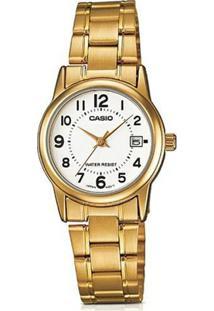 94fdbaed741 ... Relógio Feminino Casio Collection - Unissex-Dourado
