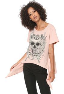Camiseta Colcci Assimétrica Rosa