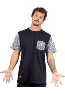 Camiseta Alfa Sticker Sleeve Masculina - Masculino