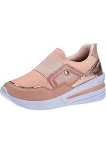 Tênis Meia Gigil Sneaker Anabela Elástico Feminino - Feminino-Rosa