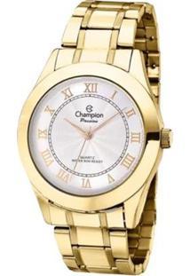 Kit Relógio Champion Analógico Cn24544W Feminino - Feminino-Dourado