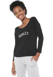 Blusa Hurley Lounge Preta