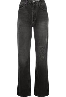 Re/Done Calça Jeans Boyfriend Destroyed - Preto