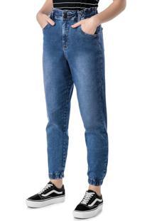 Calça Azul Jogger Jeans Stretch