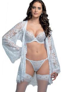 Robe Rendado Demillus 31200 Branco