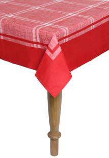 Toalha De Mesa Karsten Sempre Limpa Atlanta Retangular Vermelha
